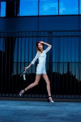 Maria Denysyneko from Quest Models in white fashion editorial by Marta Machej