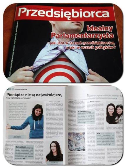 Publikacja w Magazyn Przedsiębiorca
